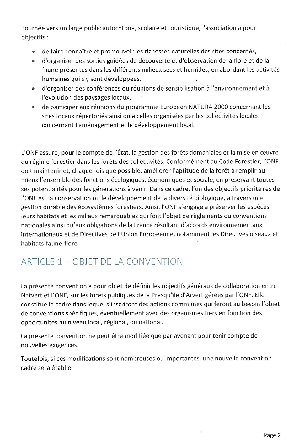 Convention ONF-Natvert Page 2